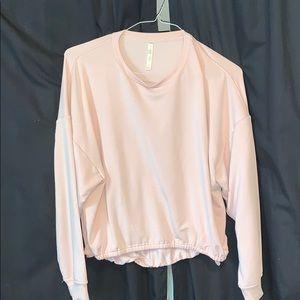 Fabletics light pink sweater